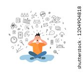 person get too much information.... | Shutterstock .eps vector #1204904818
