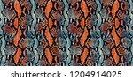 python skin  snake pattern ... | Shutterstock . vector #1204914025