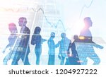 business team members... | Shutterstock . vector #1204927222