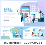 online payment and transaction... | Shutterstock .eps vector #1204939285