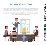 business meeting  conference of ... | Shutterstock .eps vector #1204939288