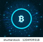 bitcoin cryptocurrency digital... | Shutterstock .eps vector #1204939318