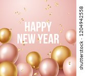 happy new year 2019 background... | Shutterstock .eps vector #1204942558