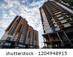 new residential high rise... | Shutterstock . vector #1204948915