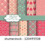 abstract valentines day vector... | Shutterstock .eps vector #120495538