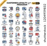 customer loyalty concept icons...