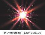 light effect glow. star flashed ... | Shutterstock .eps vector #1204960108