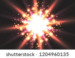 light effect glow. star flashed ... | Shutterstock .eps vector #1204960135