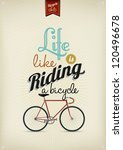 retro illustration bicycle | Shutterstock .eps vector #120496678