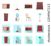isolated object of furniture... | Shutterstock .eps vector #1204967212