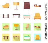 isolated object of furniture... | Shutterstock .eps vector #1204967848