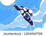 Man Astronaut Super Hero...