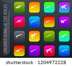 hand weapons colored icons in...   Shutterstock .eps vector #1204972228