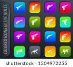 hand weapons colored icons in...   Shutterstock .eps vector #1204972255