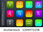 zodiac simply colored icons in...   Shutterstock .eps vector #1204972258