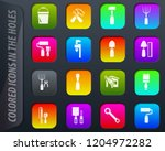work tools colored icons in the ...   Shutterstock .eps vector #1204972282