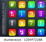 work tools colored icons in the ...   Shutterstock .eps vector #1204972288