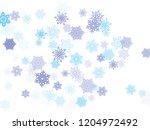 blue paper snowflakes flying...   Shutterstock .eps vector #1204972492