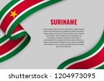 waving ribbon or banner with... | Shutterstock .eps vector #1204973095