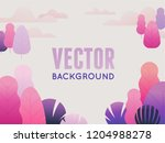 vector illustration in trendy... | Shutterstock .eps vector #1204988278