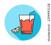 juice  drink  glass  | Shutterstock .eps vector #1204992118