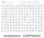 set of vector line icons of... | Shutterstock .eps vector #1204996642