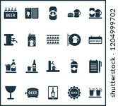 beverages icons set with beer... | Shutterstock .eps vector #1204999702