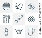 culinary icons line style set... | Shutterstock .eps vector #1204999732