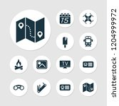 journey icons set with bus... | Shutterstock .eps vector #1204999972