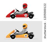 kart driver sport background.... | Shutterstock . vector #1205000122