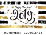 vector illustration  2019 hand... | Shutterstock .eps vector #1205016415
