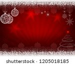 christmas design in red with... | Shutterstock .eps vector #1205018185