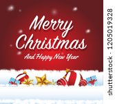marry christmas and happy new...   Shutterstock .eps vector #1205019328