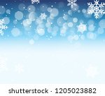winter bokeh background with... | Shutterstock . vector #1205023882