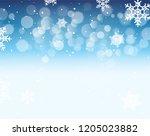 winter bokeh background with...   Shutterstock . vector #1205023882