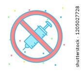 banned   not allowed   no... | Shutterstock .eps vector #1205027728