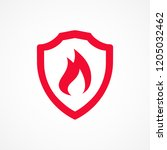 fire protection icon | Shutterstock .eps vector #1205032462