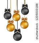 vector elegant christmas... | Shutterstock .eps vector #1205033188