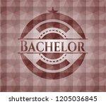 bachelor red seamless emblem... | Shutterstock .eps vector #1205036845