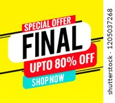 final sale special offer banner ... | Shutterstock .eps vector #1205037268