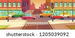 city crossroads  traffic jam ... | Shutterstock . vector #1205039092