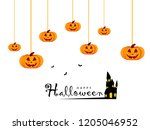 happy halloween design... | Shutterstock .eps vector #1205046952