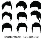 silhouettes of hair styling 2...