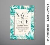 wedding invitation card... | Shutterstock .eps vector #1205069995
