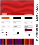 dark blue  red vector design ui ...