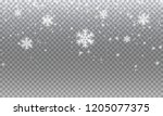 snow. vector transparent... | Shutterstock .eps vector #1205077375