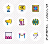 vector illustration of 9 film... | Shutterstock .eps vector #1205080705
