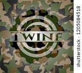 twine written on a camo texture   Shutterstock .eps vector #1205084518