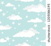 seamless cartoon background... | Shutterstock .eps vector #1205086195