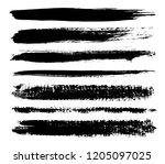set of grunge lines .vector... | Shutterstock .eps vector #1205097025